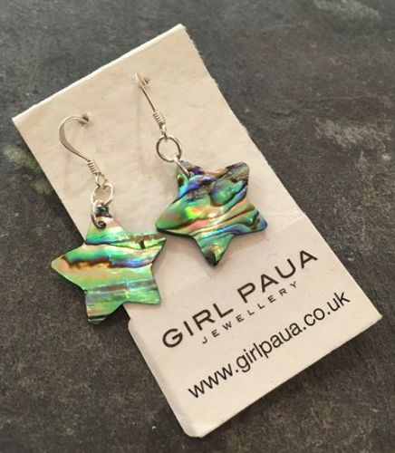 Paua Star Earrings PE03-S